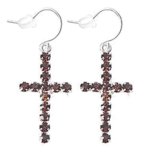 Cross Earrings Amber