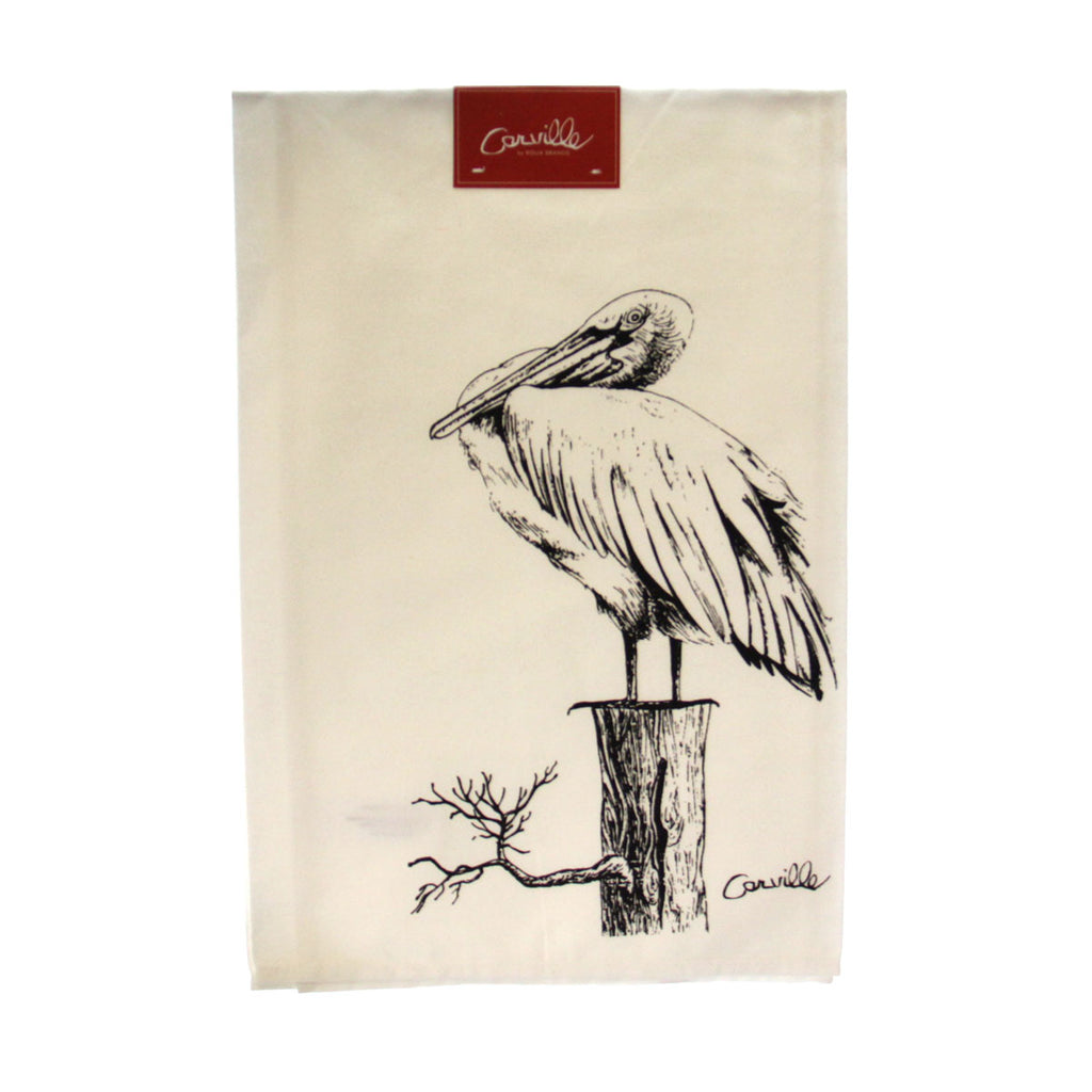 Carville Pelican Cotton Hand Towel