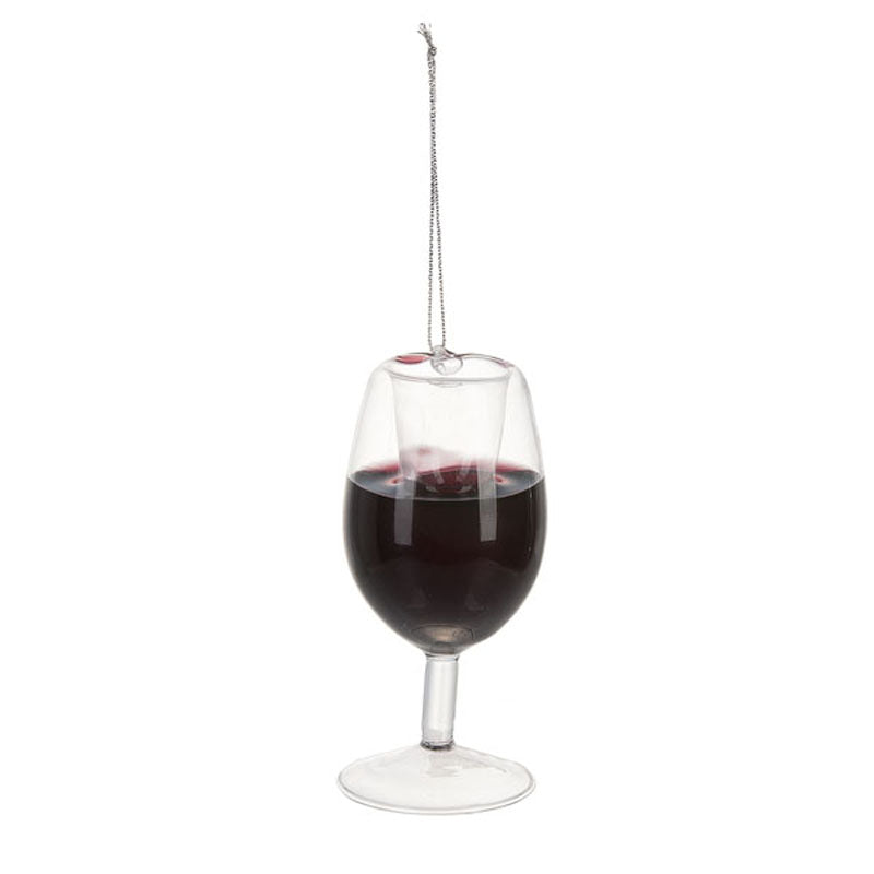 Merry Merlot Wine Glass Ornament