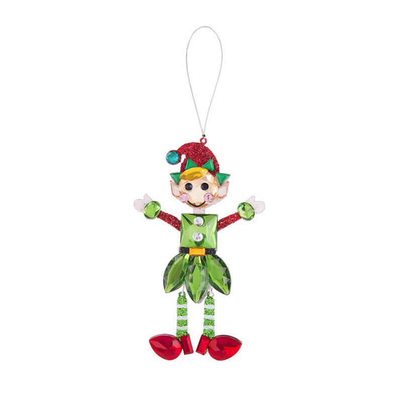 Holiday Elf Ornament-Red