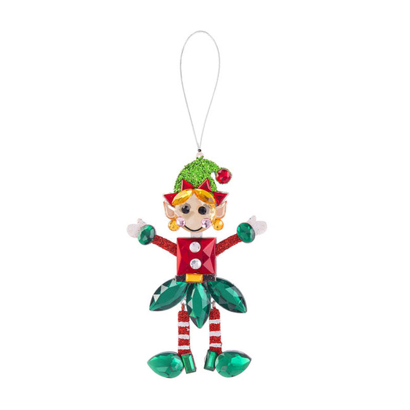 Holiday Elf Ornament-Green