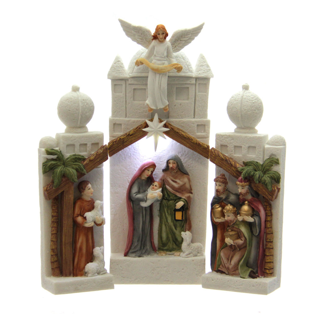 3pc Illuminated Nativity