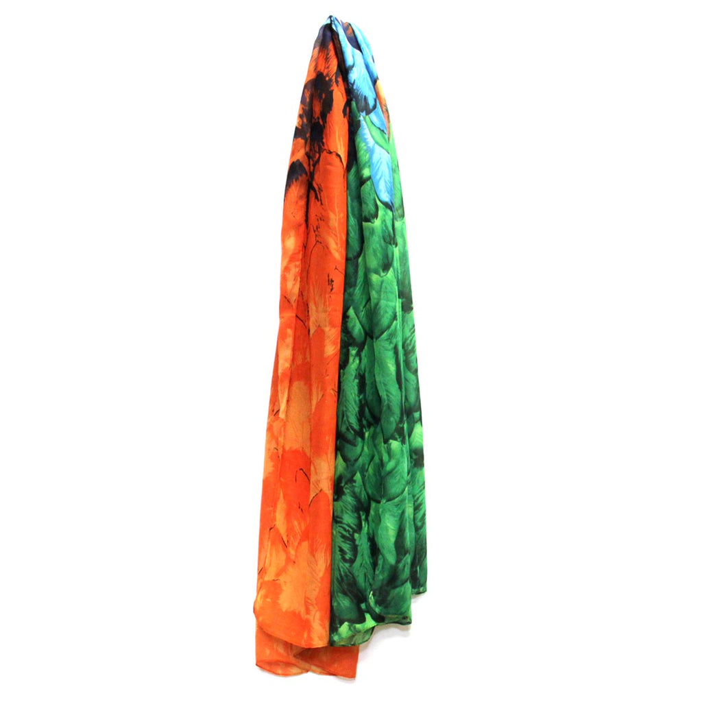 Colorful Patterned Scarf, Feathers