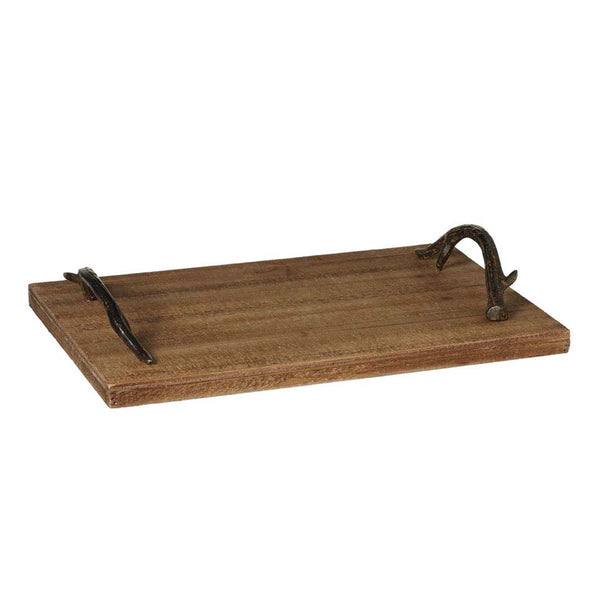 Decorative Tray with Antler Handles