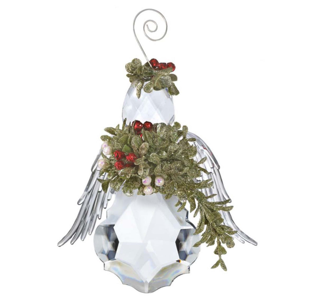 Mistletoe Krystal Angel Ornament