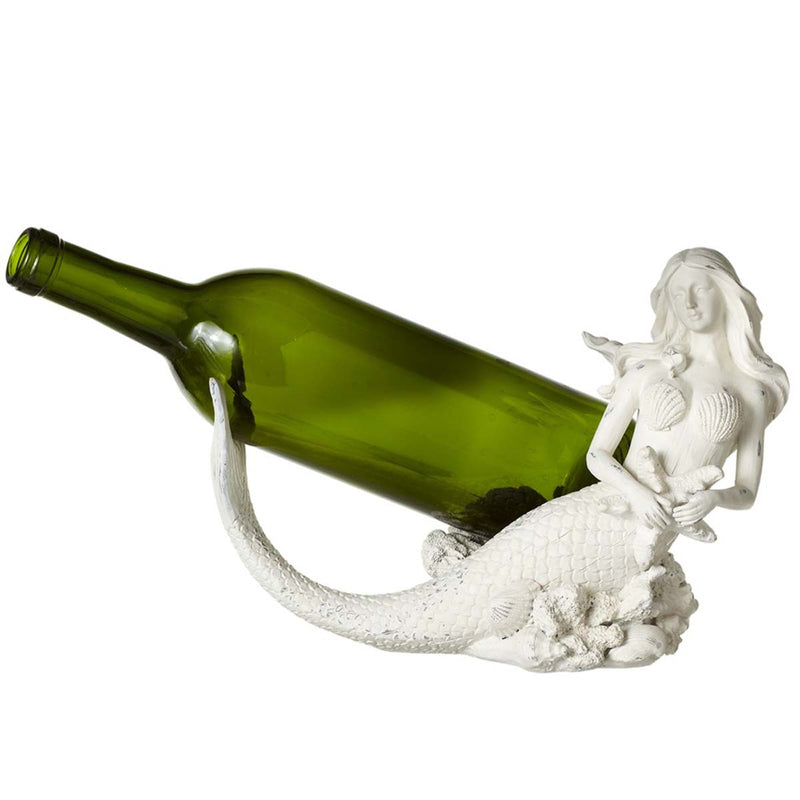 Whitewash Mermaid Wine Bottle Holder