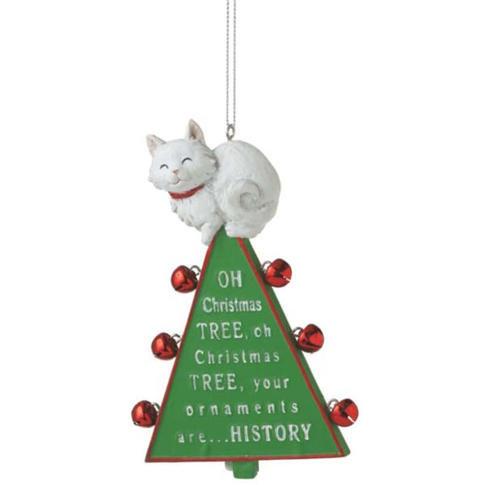 Oh Christmas Tree Cat Christmas Ornament