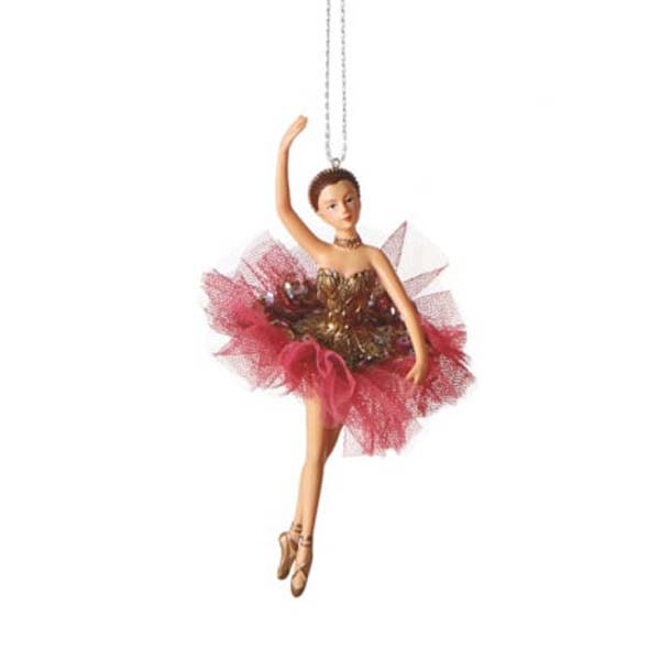 Ballet Dancer Christmas Ornament Style C