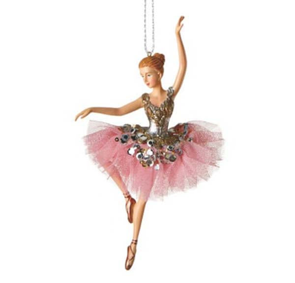 Ballet Dancer Christmas Ornament Style D