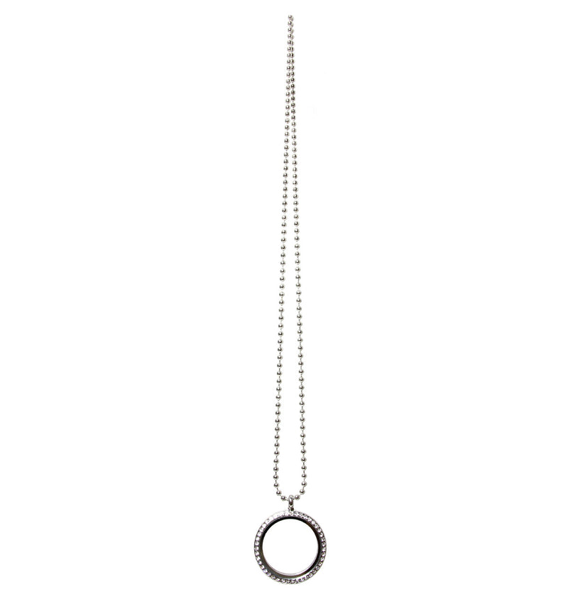 "Floating Charm Pendant, 24""necklace"