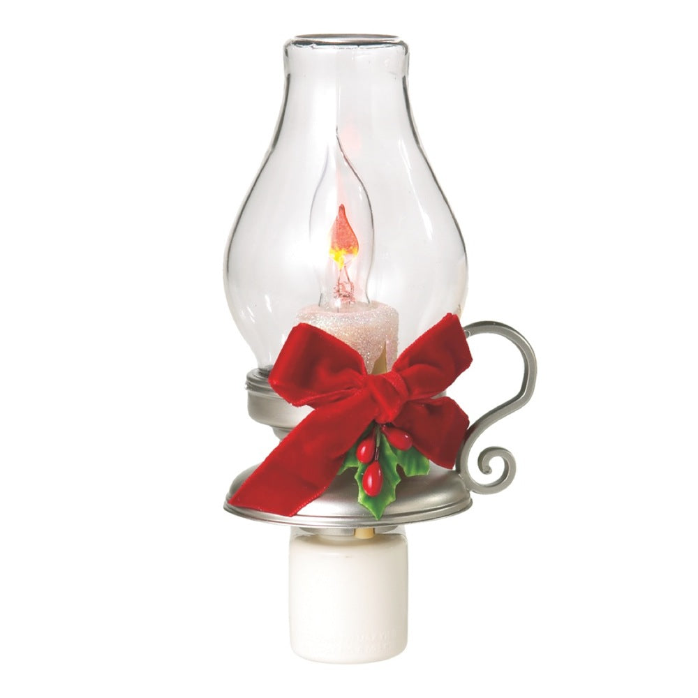 Lantern with Holly Flicker Night Light