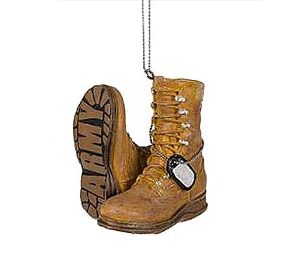 Military Boot Ornament-Army