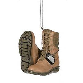 Military Boot Ornament-Marines