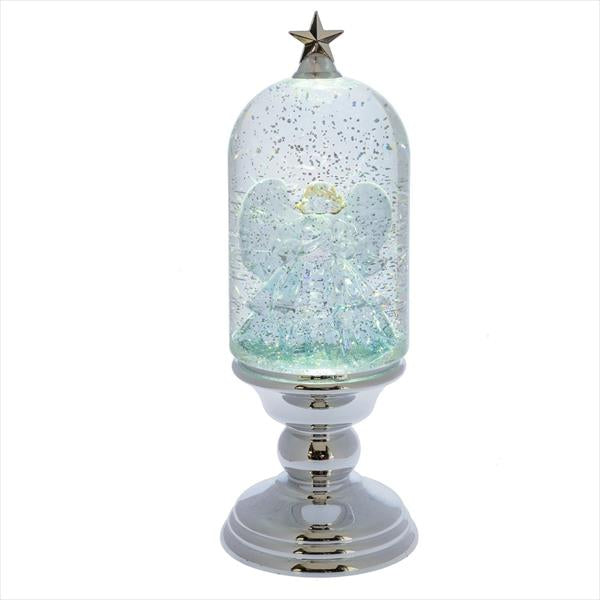 Lighted LED Shimmer Angel Cloche