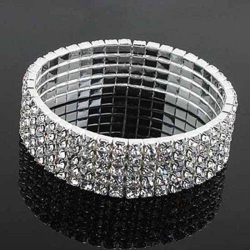 Rhinestone Bracelet Stretch 5 row