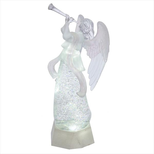 LED Shimmer Angel with Trumpet Figurine