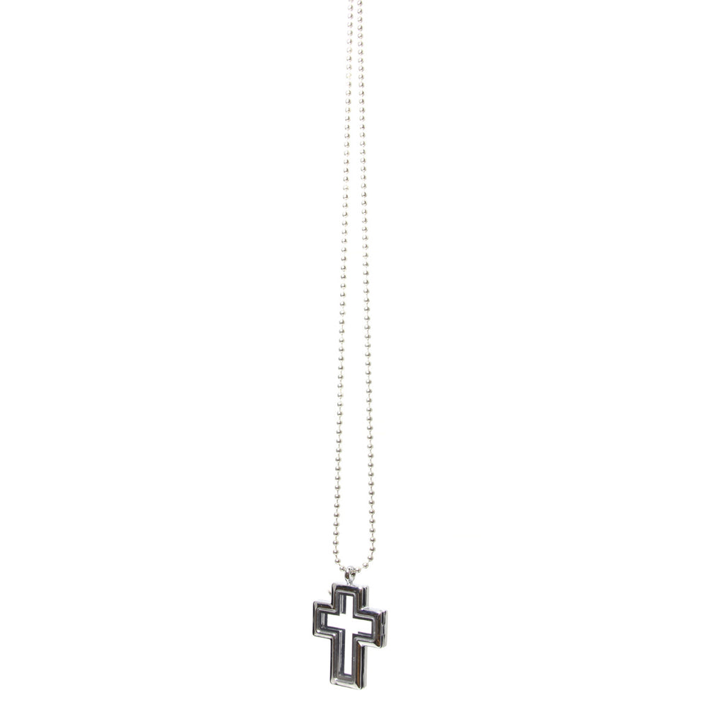 Floating Charm Cross Pendant