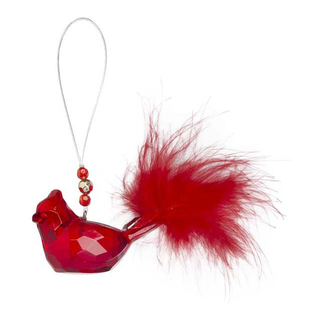 Feathered Cardinal Ornament