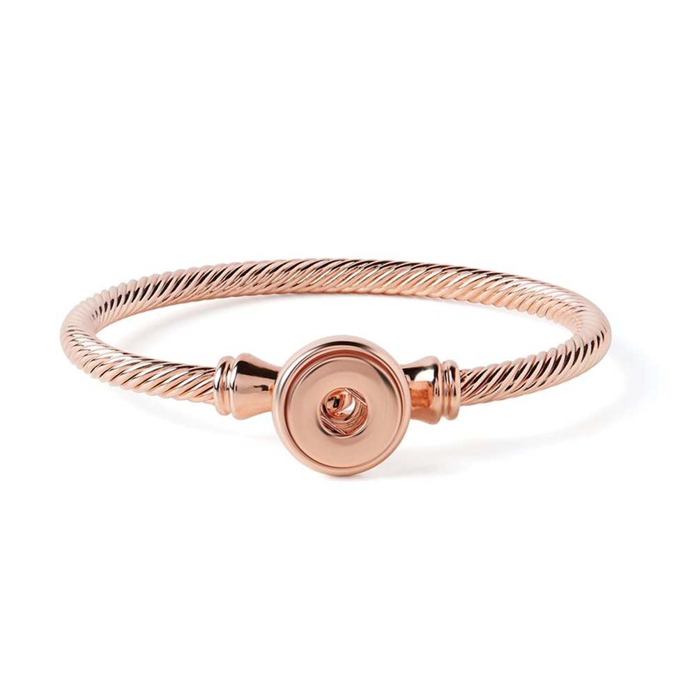 Petite Ginger Snaps Bracelet Rope Latch Rose Gold