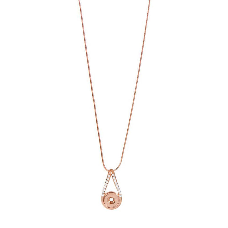Petite Ginger Snaps Necklace Infinity Bling Rose Gold