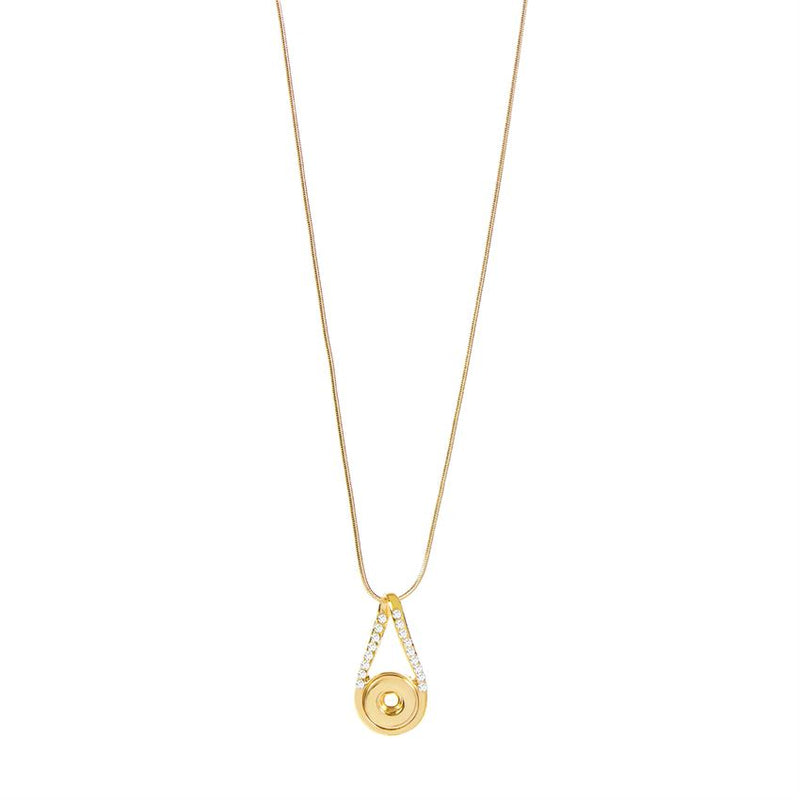 Petite Ginger Snaps Necklace Infinity Bling Gold