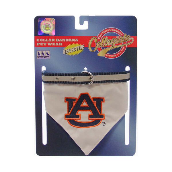 NCAA Dog Collar Bandana Auburn - Small