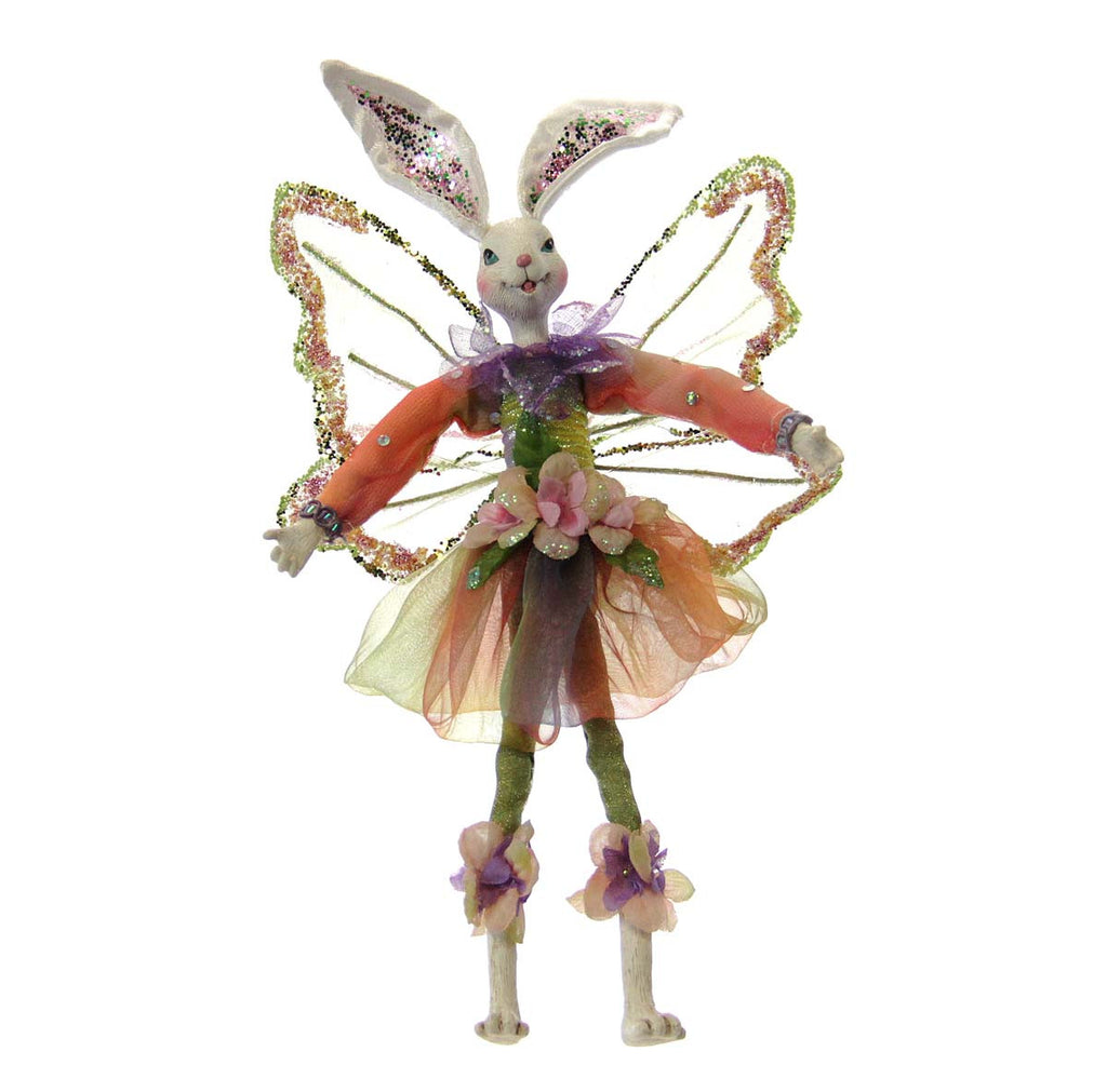 Flower Garden Fairy Bunny Ornament