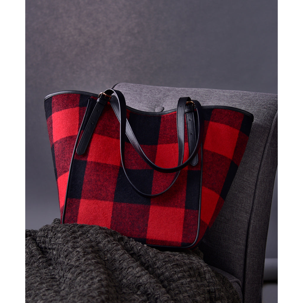 Charlie Paige Black & Red Plaid Purse