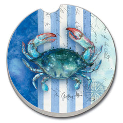 Car Coaster - Sea Stripes Crab