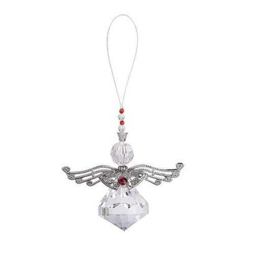 Metallic Angel Ornament-Silver Jewel