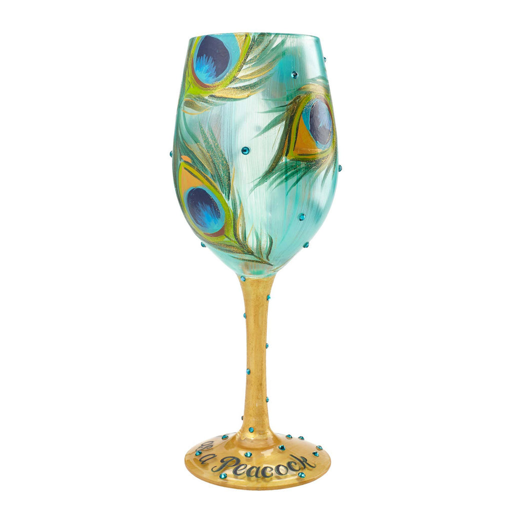 Lolita Pretty as a Peacock Wine Glass