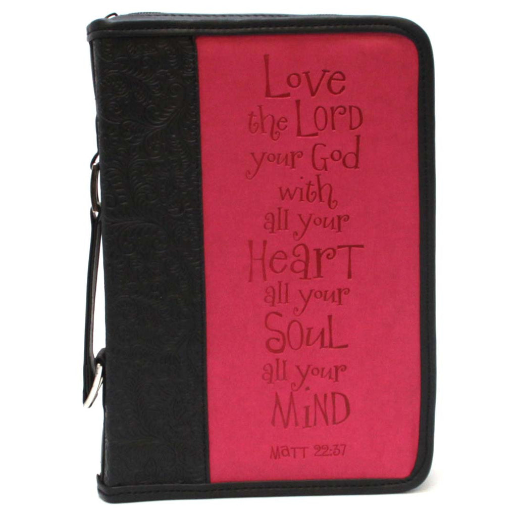 Bible Cover Black Fuchsia