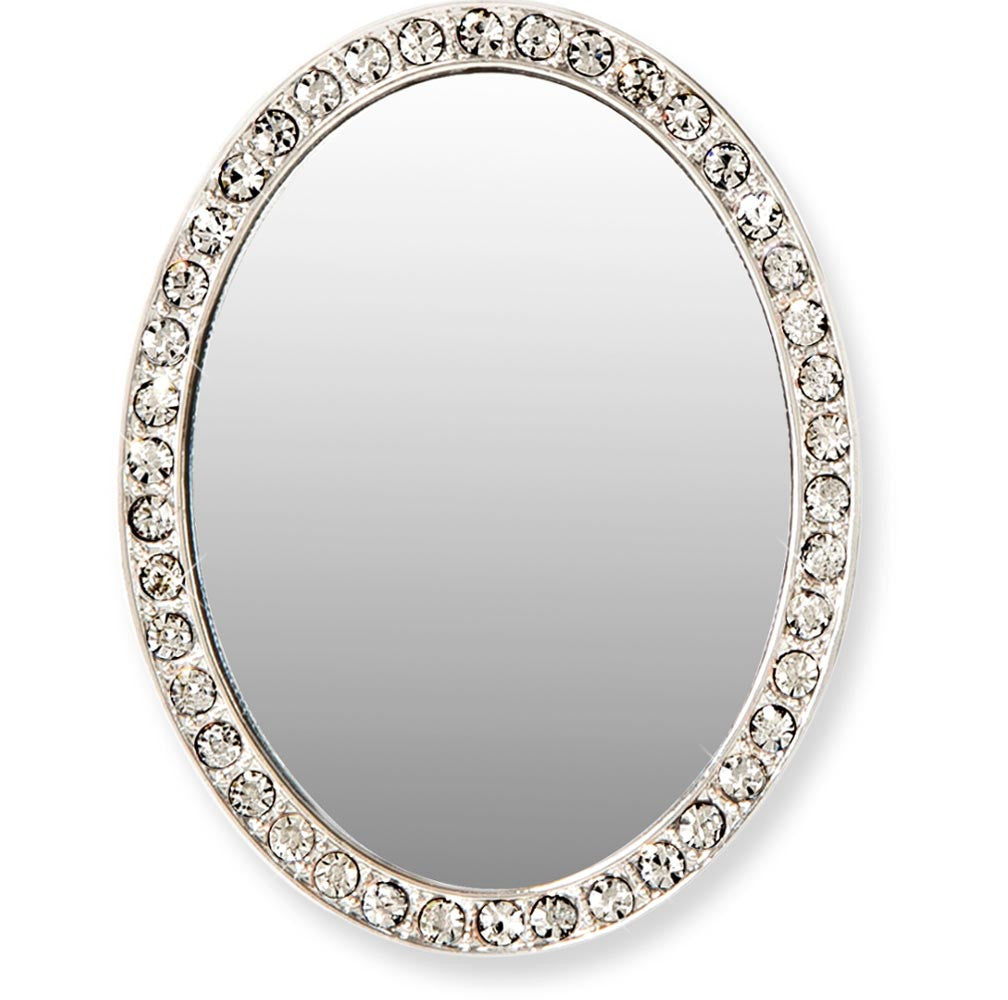 Tech Mirror in Silver Oval