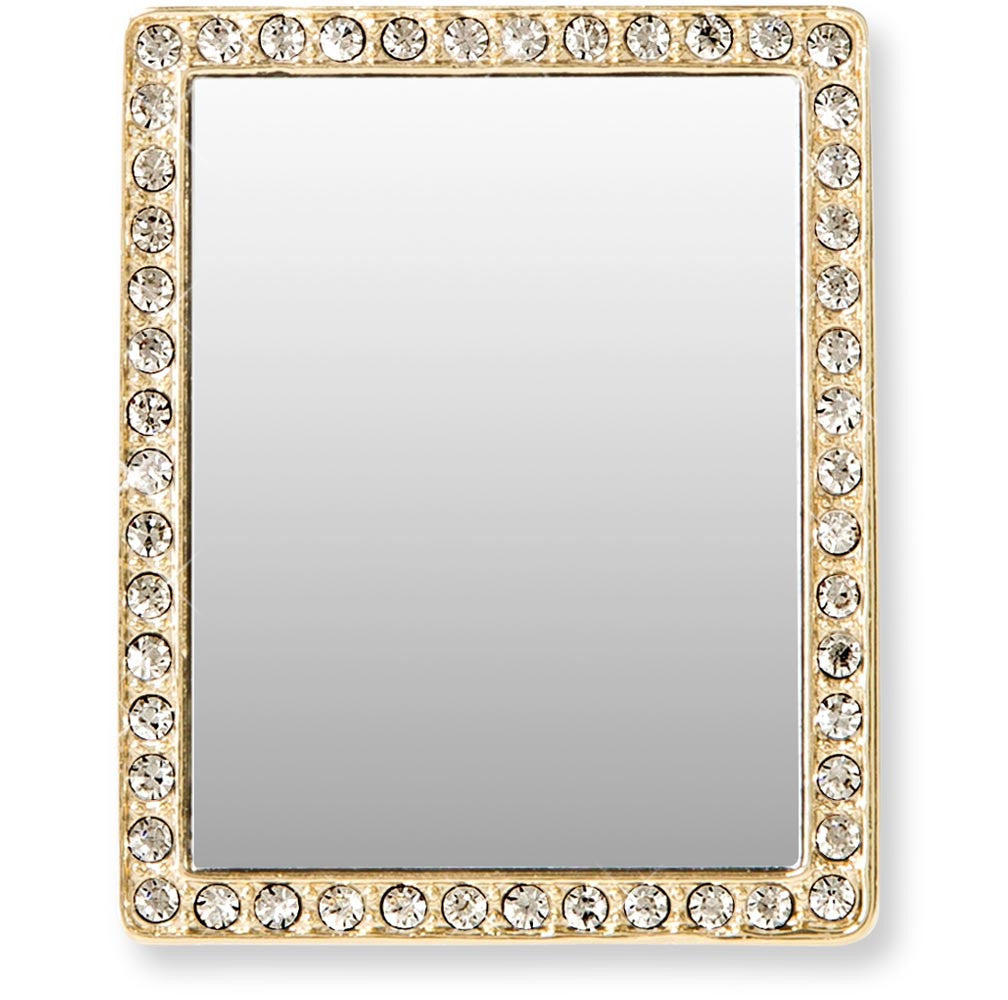 Tech Mirror in Gold Rectangle