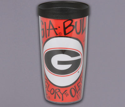 Tumbler 16oz Georgia Bull Dogs