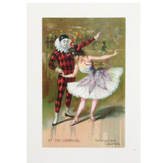 Harlequin and Columbine Invitation