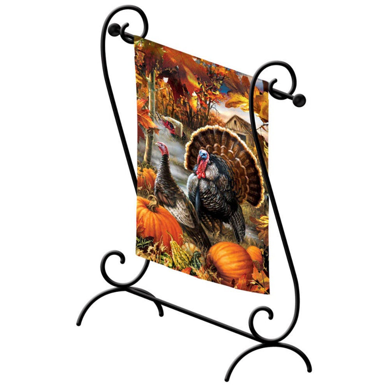 Estate Scroll Garden Sized Flag Stand