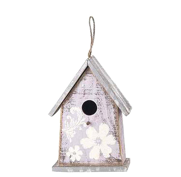 Vintage Birdhouse Flower Purple
