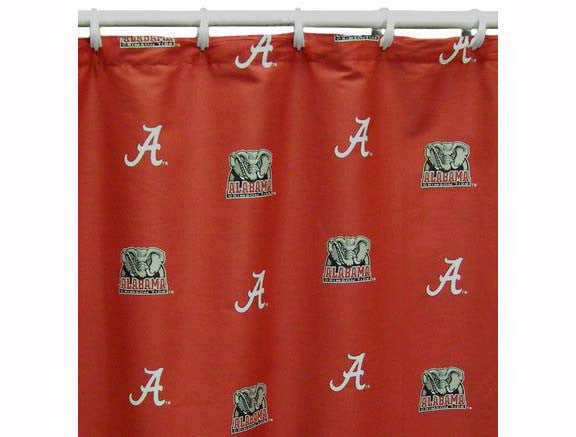 Shower Curtain Cover Alabama Crimson Tide