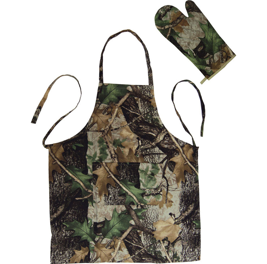 Camo Apron and Oven Mitt Set