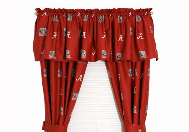 Curtain Panels Alabama Crimson Tide