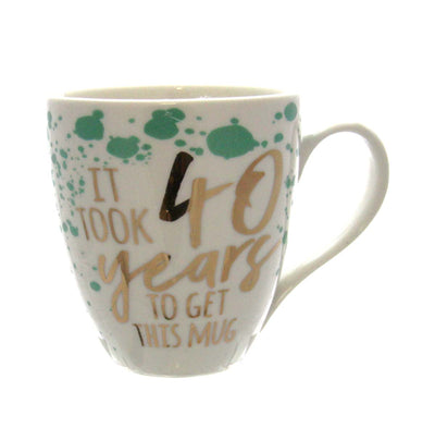 Ceramic Cup O' Java, 17 OZ., Birthday Sentiments 40 Years