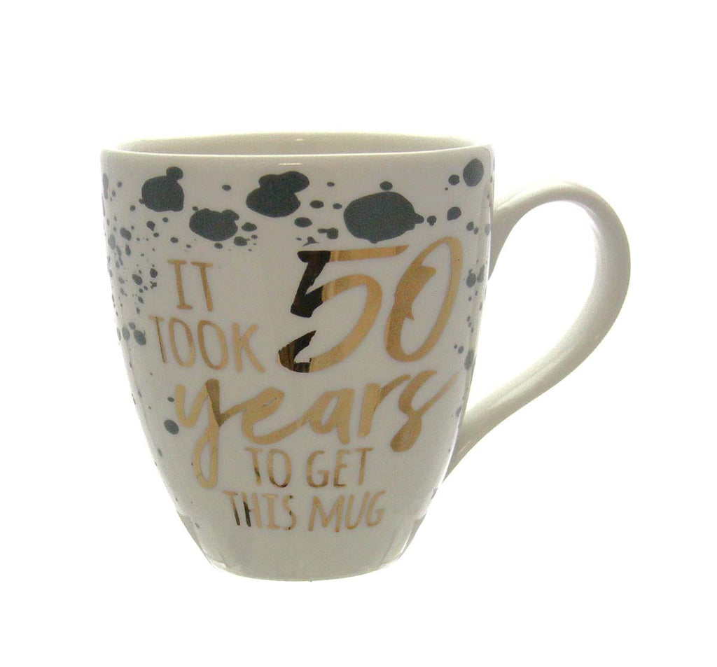 Ceramic Cup O' Java, 17 OZ., Birthday Sentiments 50 Years