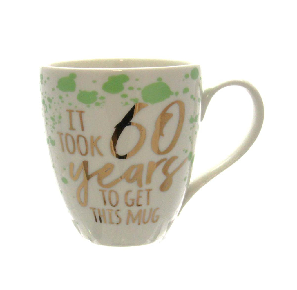 Ceramic Cup O' Java, 17 OZ., Birthday Sentiments 60 Years