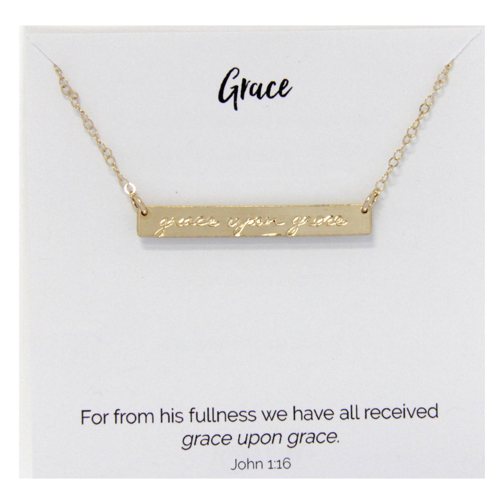 Grace Upon Grace Necklace 14kt Gold Filled