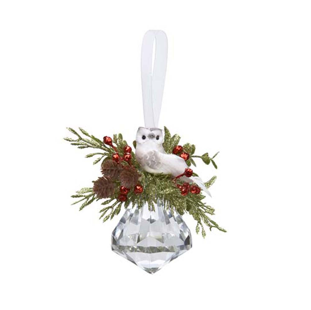 Mistletoe Owl Jewel Ornament