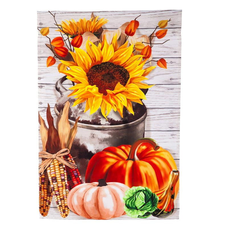 Harvest Blessing Garden Satin Flag