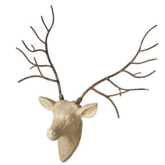 Stag Wall Mount with Iron Antlers