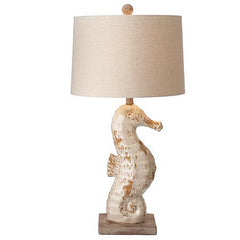 Seahorse Table Lamps Ceramic Set of 2