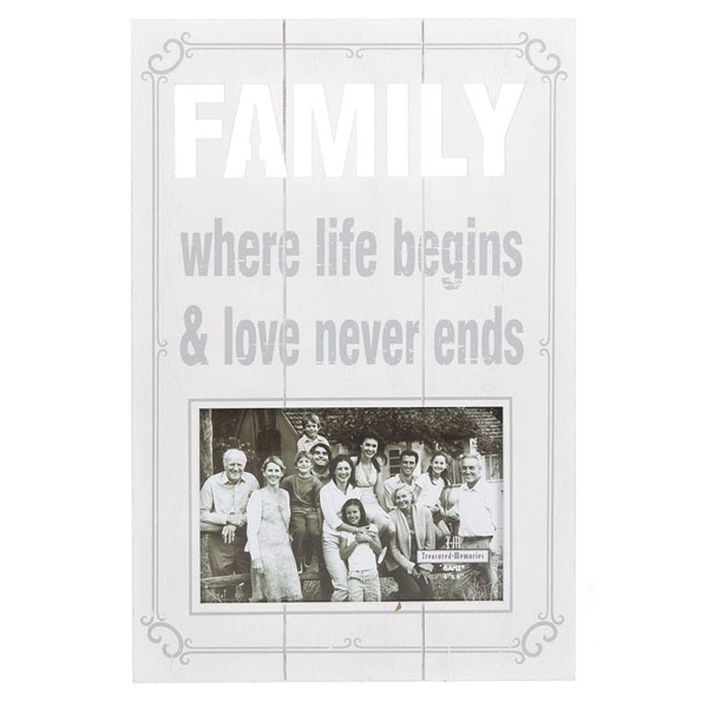 Laser Cut Plaque Photo Frame - Family